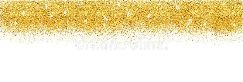Carte avec fond d'éclat d'or Des étincelles brillantes pour la publicité photo stock