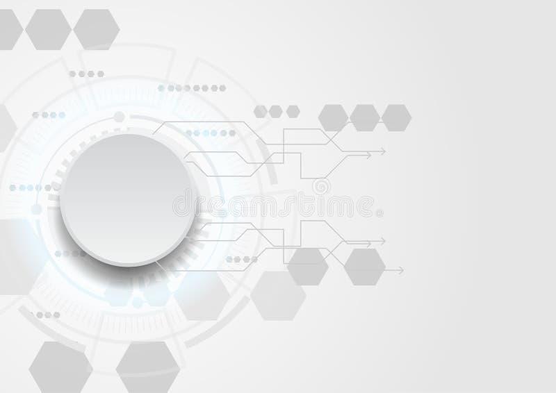 Carte avec la lumière bleue de bulle sur le fond blanc Vecteur illustration de vecteur