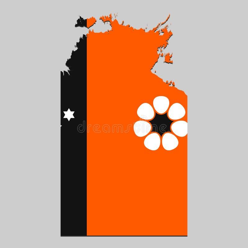 Carte avec le drapeau illustration de vecteur