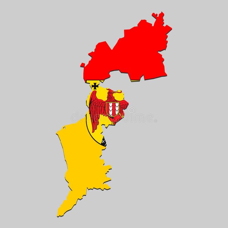 Carte avec le drapeau national illustration de vecteur