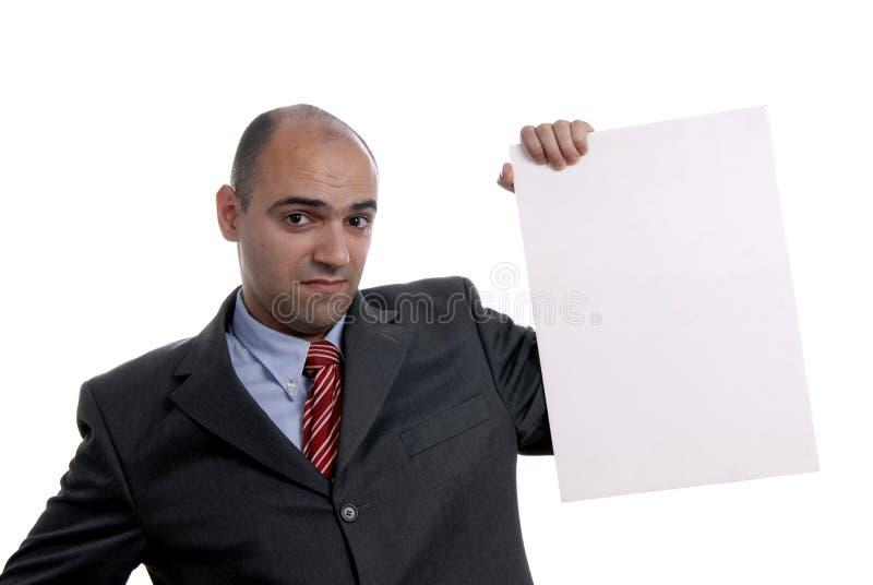 Carte blanche photo libre de droits