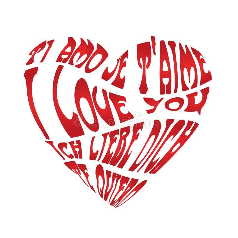 Carte blanche d'amour illustration de vecteur
