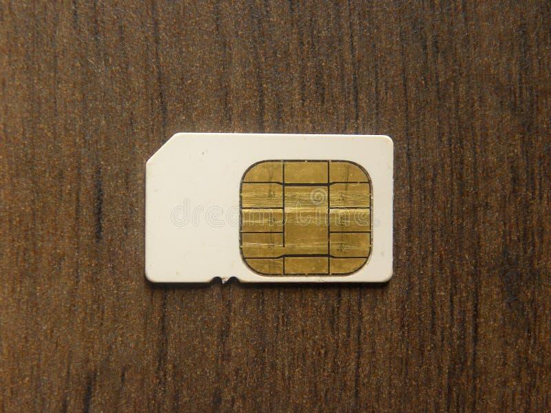 Carte blanche de la couleur SIM photographie stock
