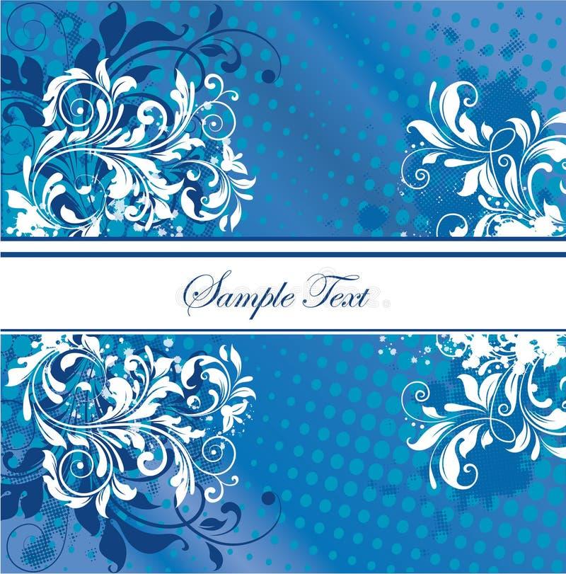 Carte bleue d'invitation illustration stock
