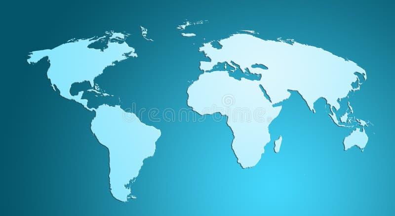 Carte bleue du monde photographie stock