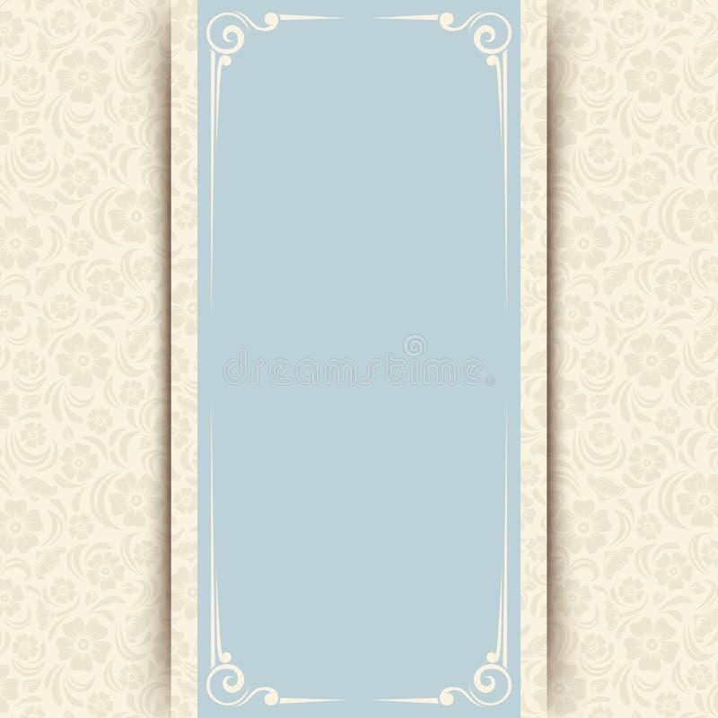 Carte bleue et beige dinvitation avec le modle floral vecteur eps dirigez la carte bleue et beige dinvitation avec le modle floral stopboris Gallery