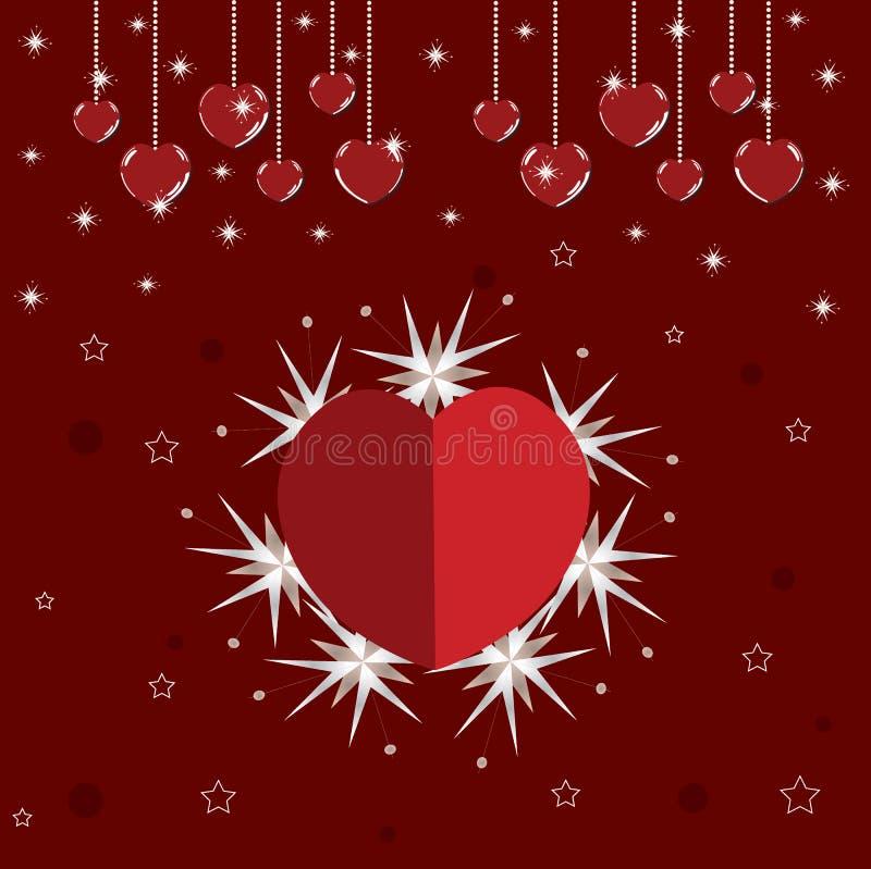 Carte brillante d'amour de Valentine photographie stock