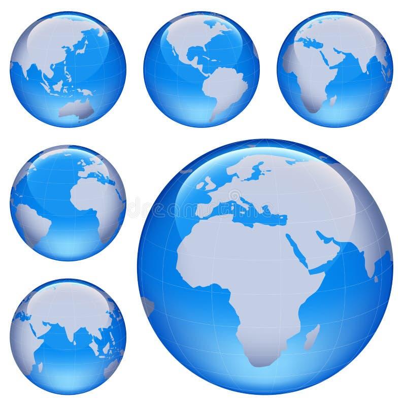 Carte brillante de la terre illustration stock