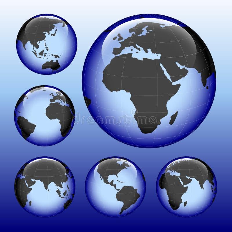 Carte brillante de la terre illustration libre de droits