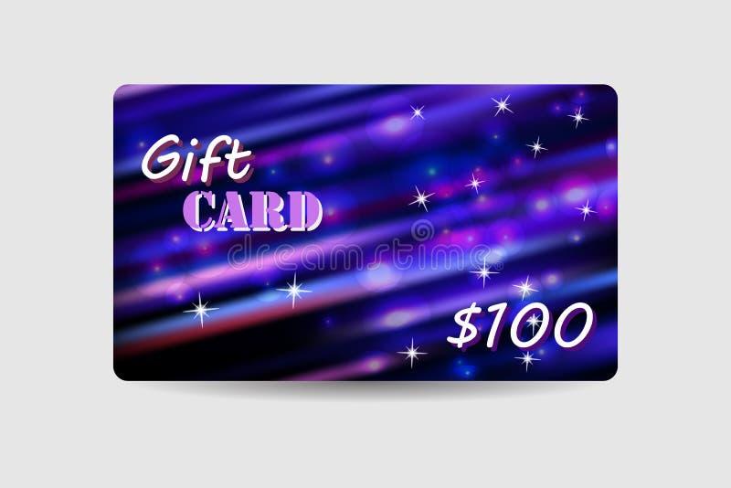 Carte cadeaux, cupón, tarjeta del descuento stock de ilustración