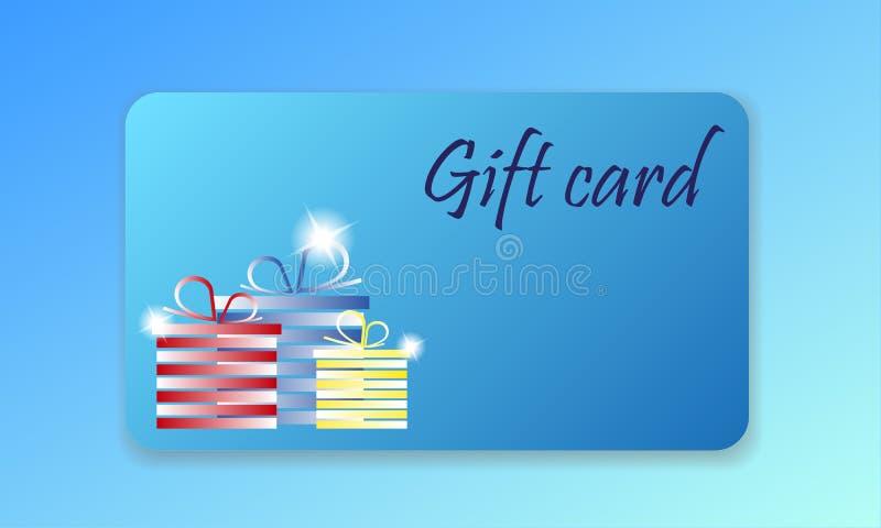 Carte cadeaux d'achats illustration de vecteur