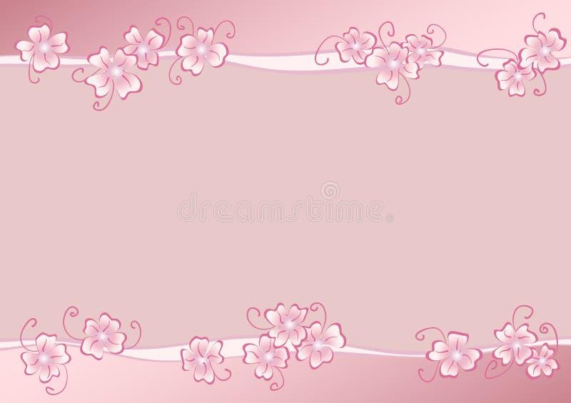 Carte cadeaux romántico con el marco abstracto de la flor stock de ilustración
