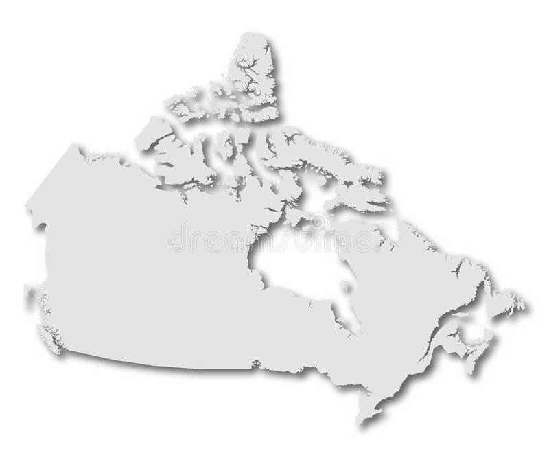 Carte Canada de vecteur illustration stock