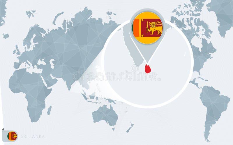 Sri Lanka Sur Le Globe Du Monde Avec Le Drapeau Et La Carte Regionale De Sri Lanka Illustration De Vecteur Illustration Du Drapeau Monde 136684242