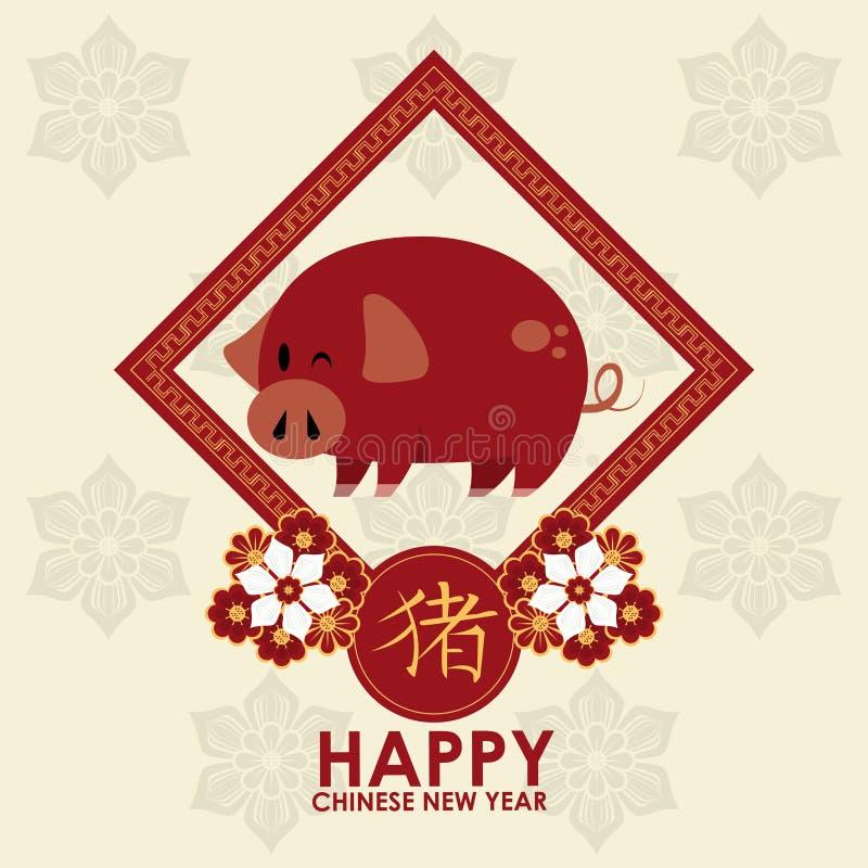 Carte chinoise heureuse de nouvelle ann?e illustration libre de droits