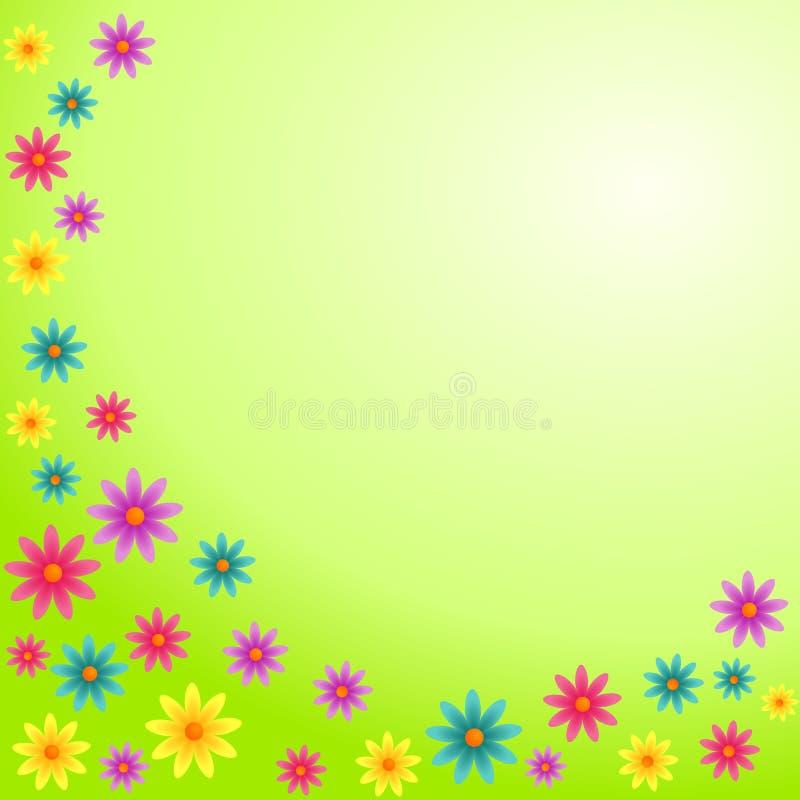 Carte colorée de fleurs illustration stock