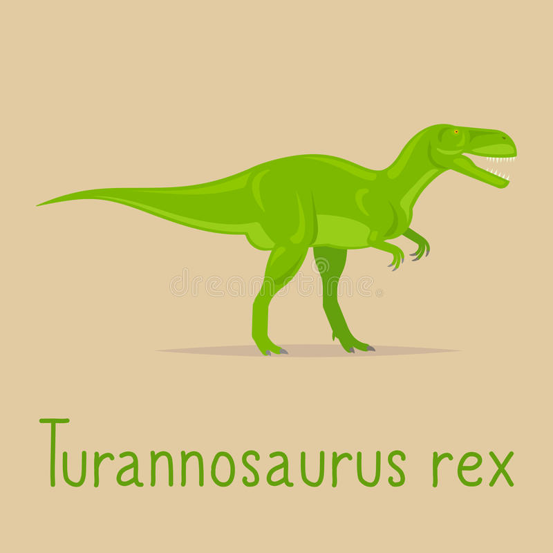 Carte colorée de rex de Turannosaurus illustration stock