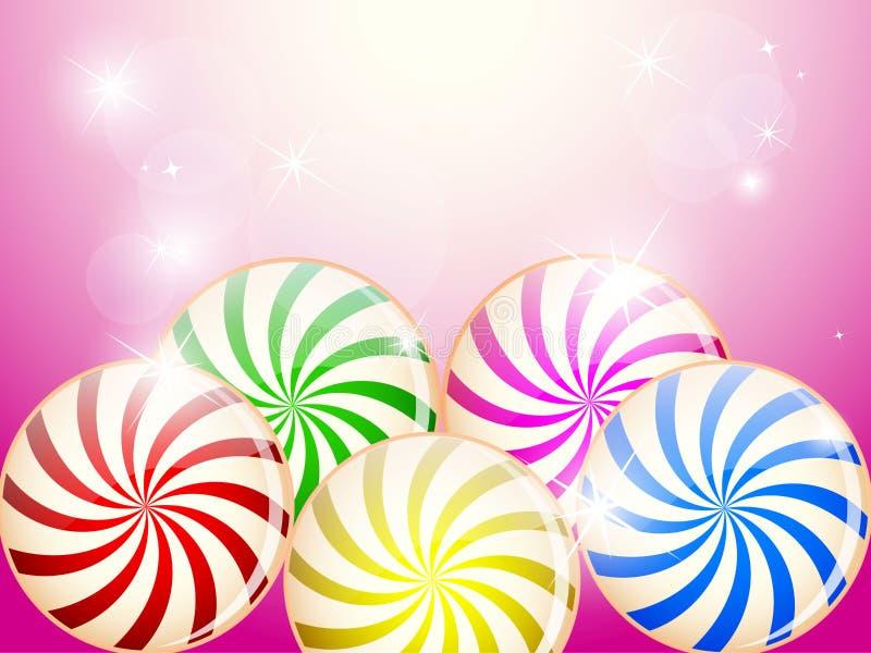 Carte colorée de sucreries illustration stock