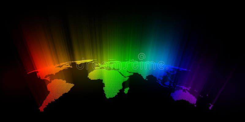 Carte colorée du monde illustration stock