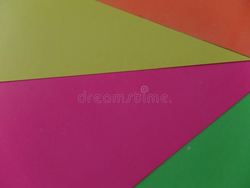 Carte colorée fluorescente au néon mélangée photos stock
