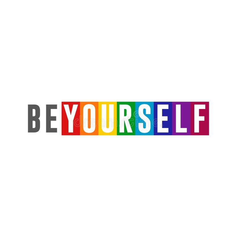 Carte colorée LGBT Pride Design Element d'arc-en-ciel unique illustration de vecteur