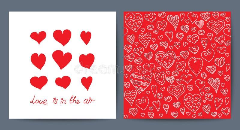 Carte créative mignonne de vecteur avec la conception de thème d'amour illustration libre de droits