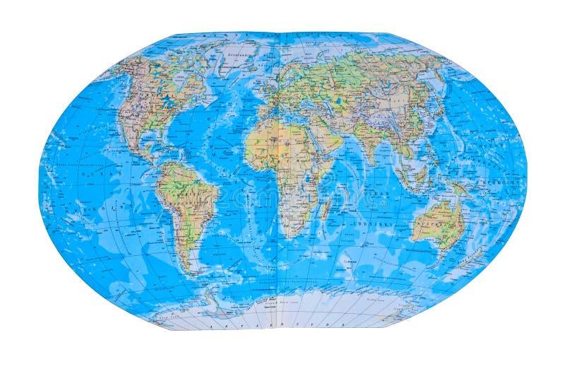Carte détaillée du monde photo libre de droits
