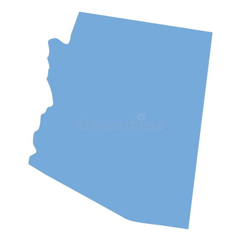 Carte d'état de l'Arizona illustration libre de droits