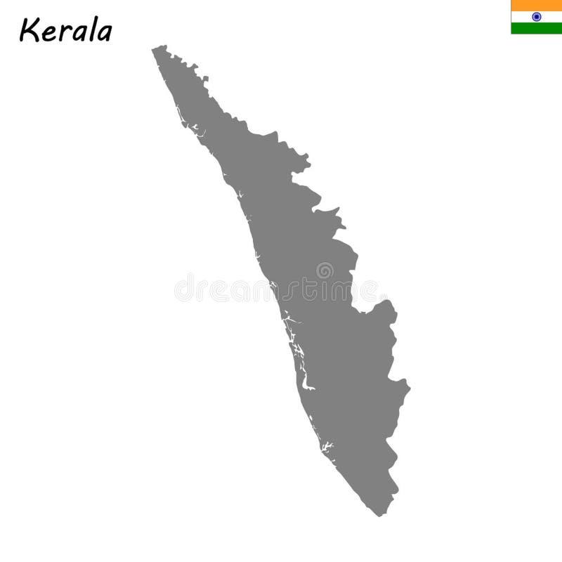 carte d'état de l'Inde illustration libre de droits