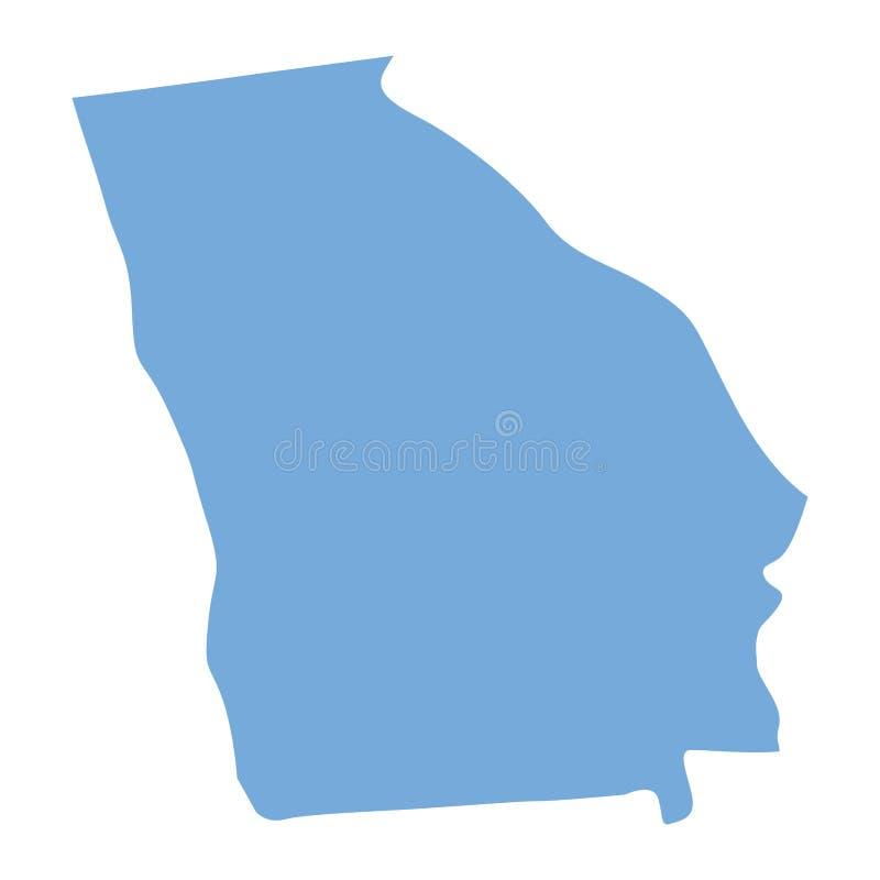 Carte d'état de la Géorgie illustration stock
