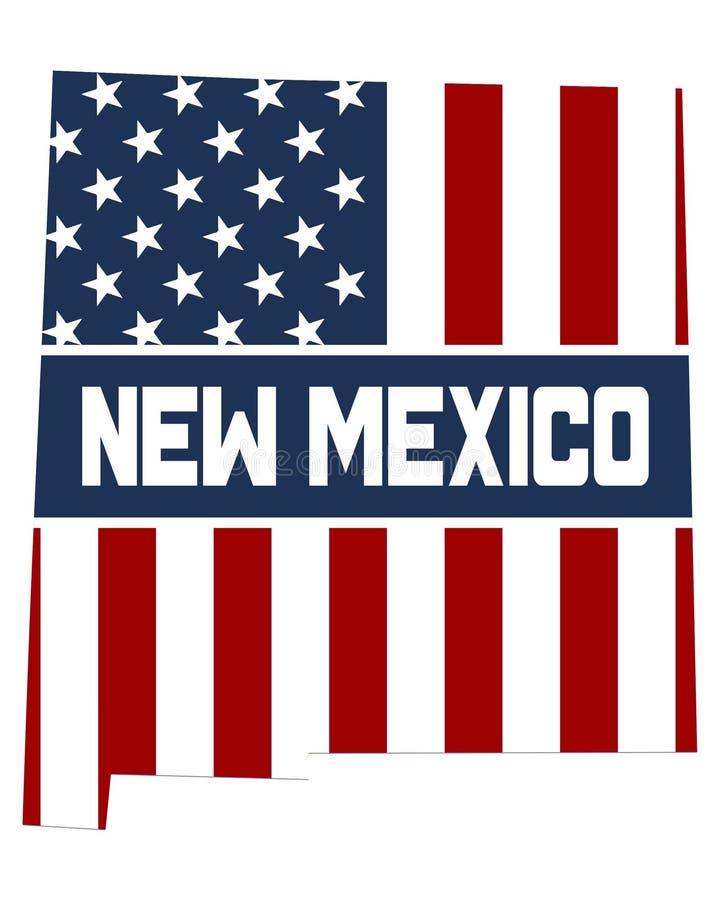 Carte d'état du Mexique photos stock