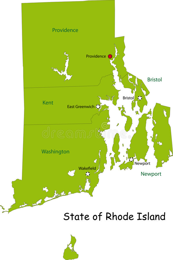 Carte d'état du Rhode Island