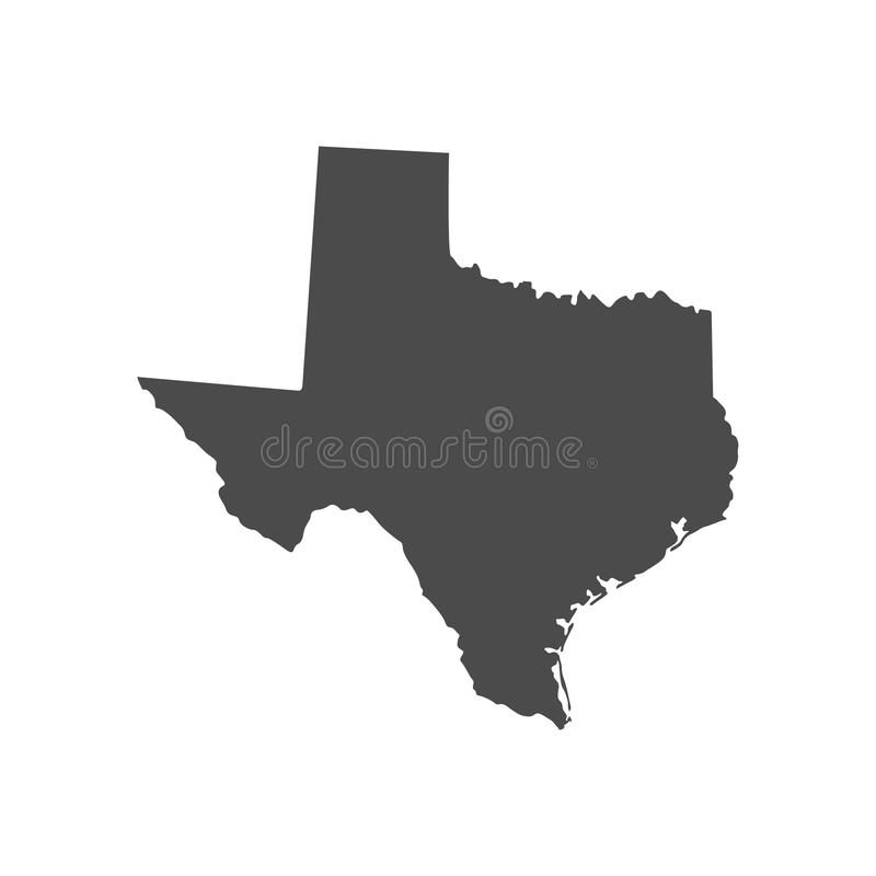 Carte d'état du Texas illustration de vecteur
