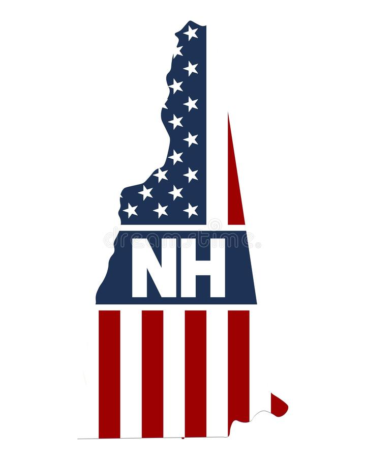 Carte d'état New Hampshire photographie stock