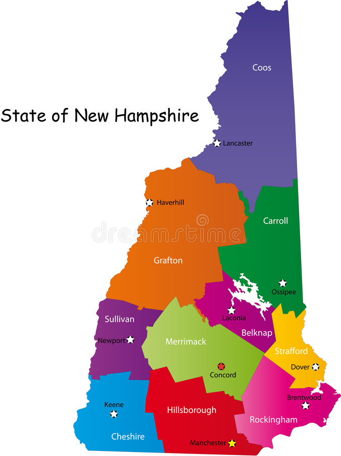 Carte d'état New Hampshire
