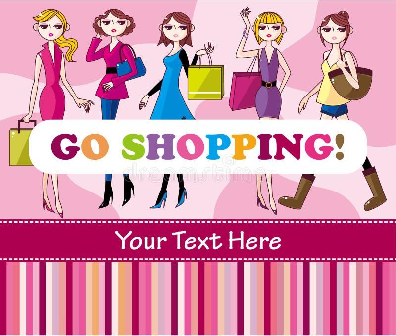 Carte d'achats de femme illustration stock