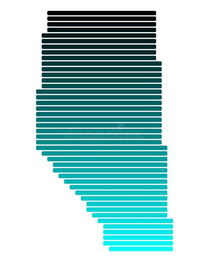 Carte d'Alberta illustration libre de droits