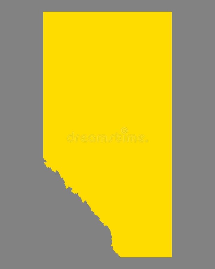 Carte d'Alberta illustration de vecteur