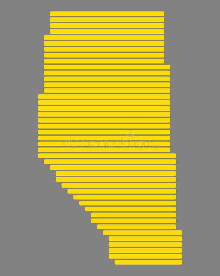 Carte d'Alberta illustration stock