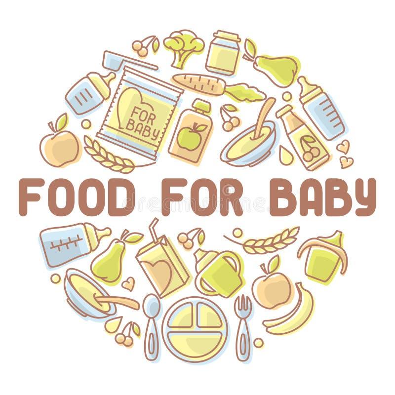 Carte d'aliment pour bébé illustration libre de droits