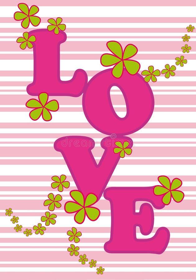 Carte d'amour illustration libre de droits