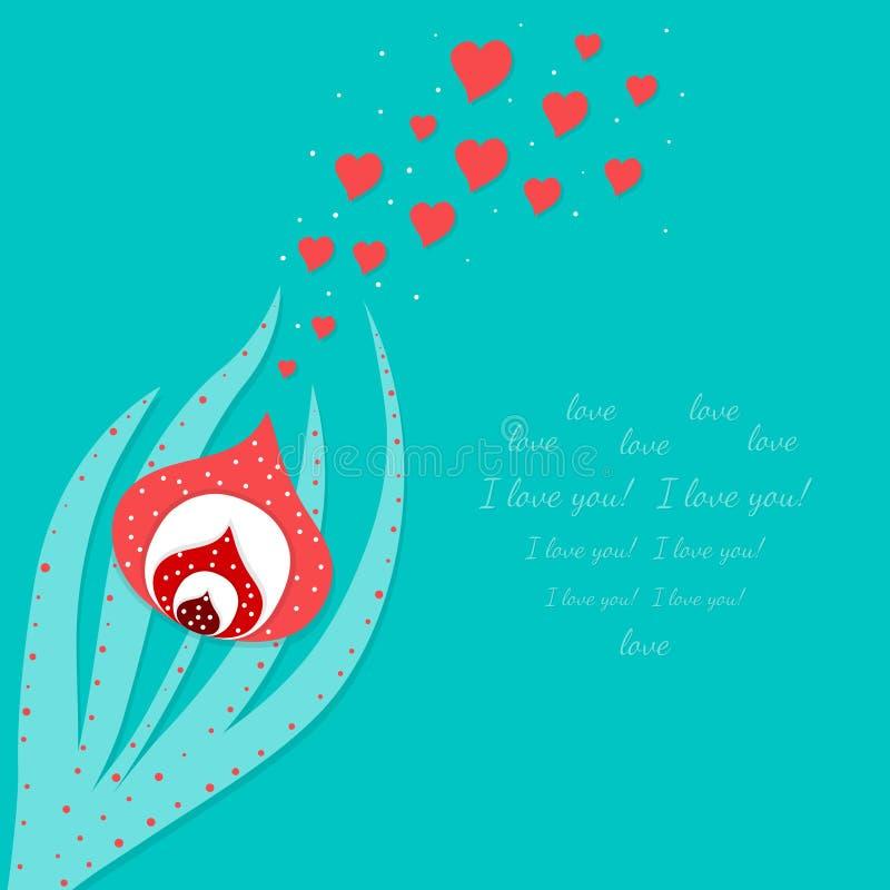 Download Carte d'amour illustration de vecteur. Illustration du centrale - 56475308