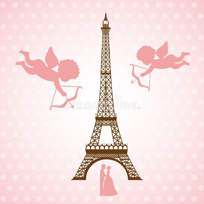 Carte d'amour illustration stock