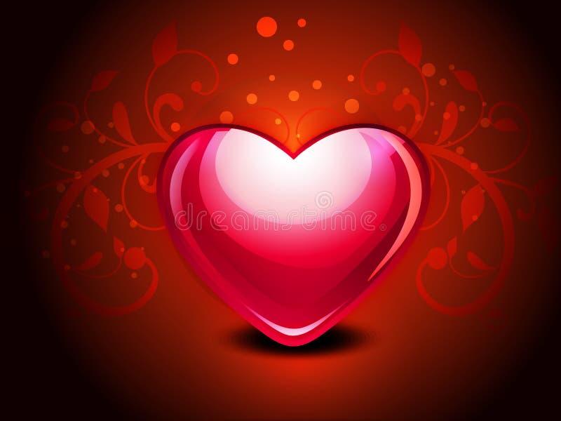 Carte d'amour avec floral illustration stock