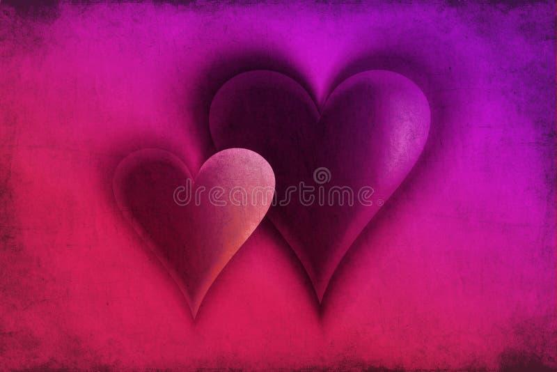 Carte d'amour avec le thème de coeurs illustration libre de droits
