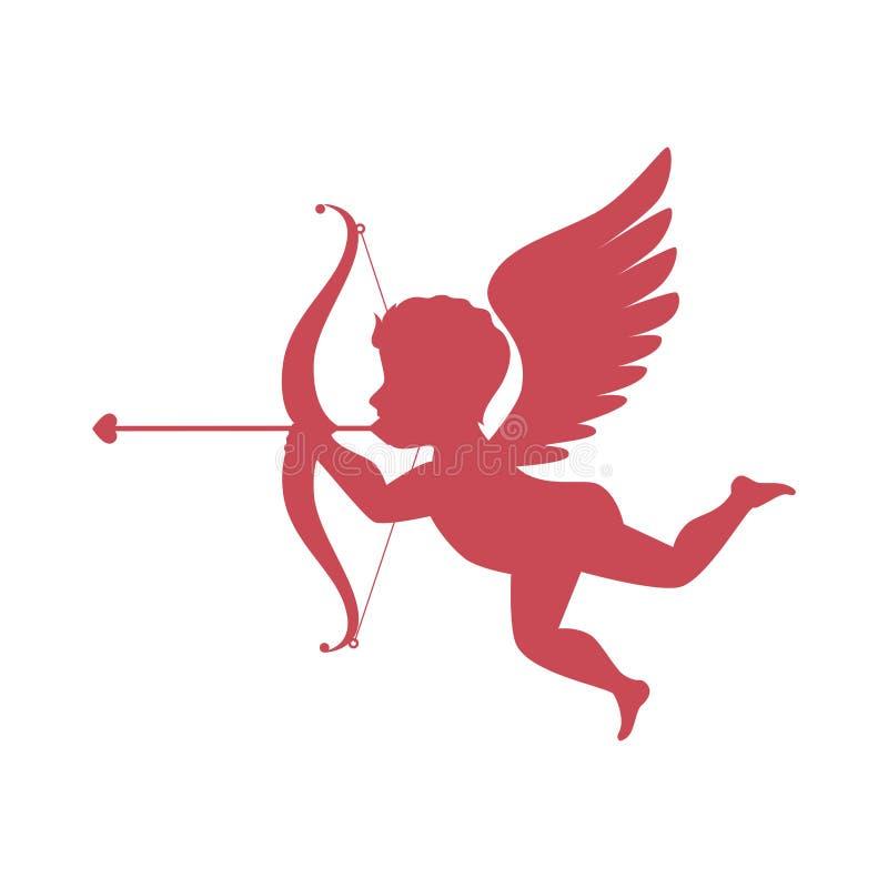 carte d'amour d'ange de cupidon illustration de vecteur