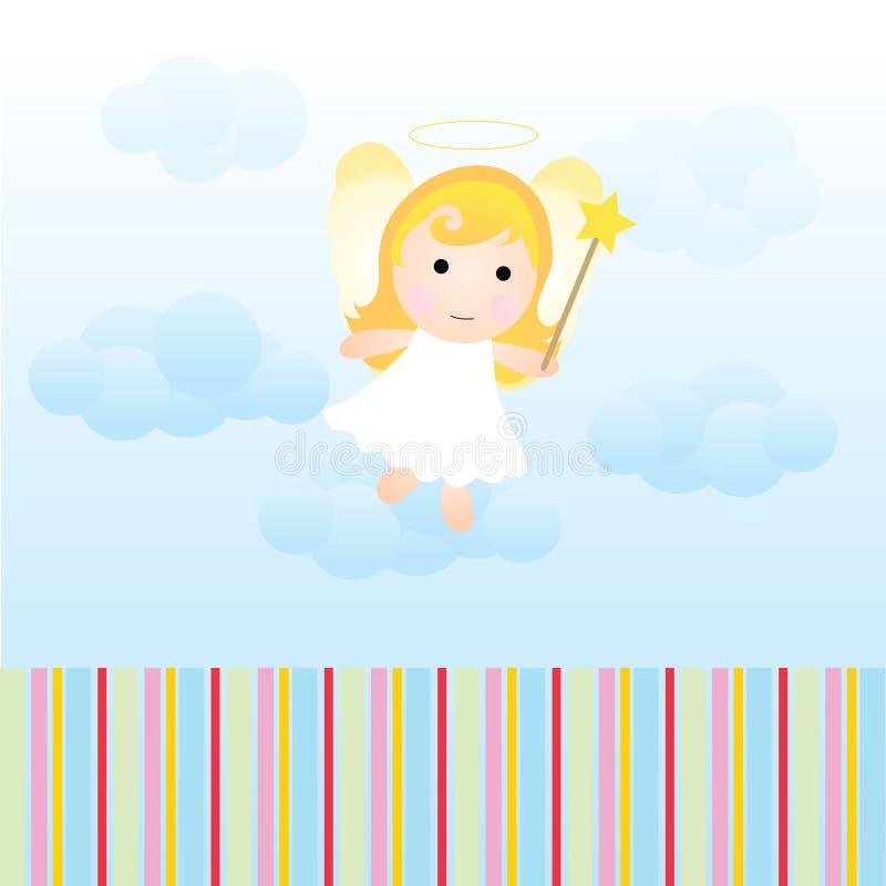 Carte d'ange de chéri illustration de vecteur