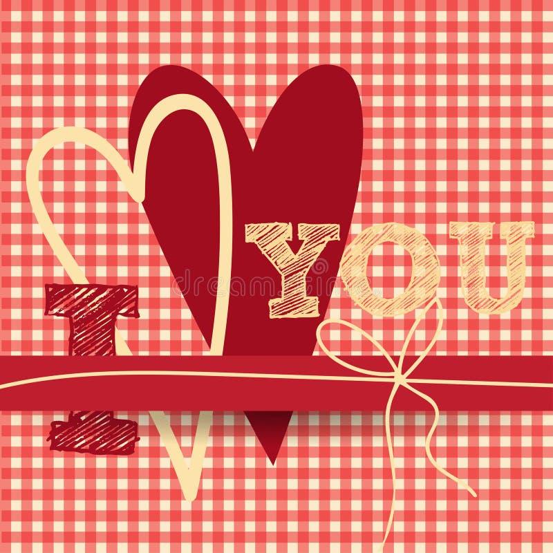 Carte d'annata creative di giorno di biglietti di S. Valentino nel rosa, in oro e nel bianco illustrazione vettoriale