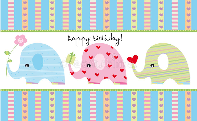 Carte d'anniversaire illustration stock