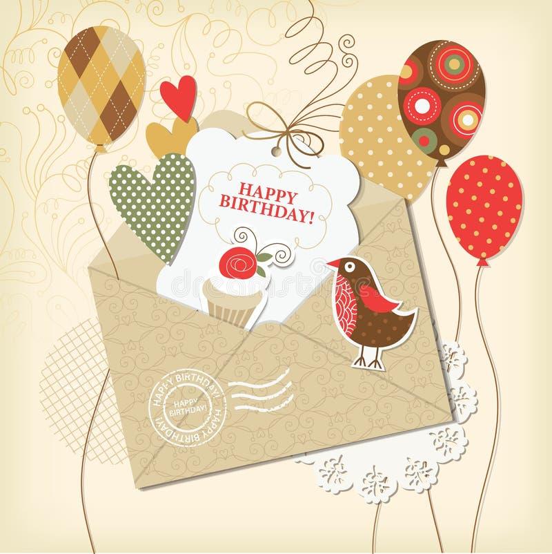 Carte d'anniversaire illustration de vecteur